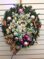 Richly Decorated Christmas Wreath