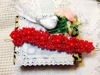 Red Pearl & Crystal Tiara