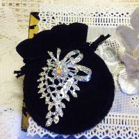 Elegant Crystal Brooch