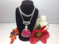 Red Natural Stone Pendant & Necklace